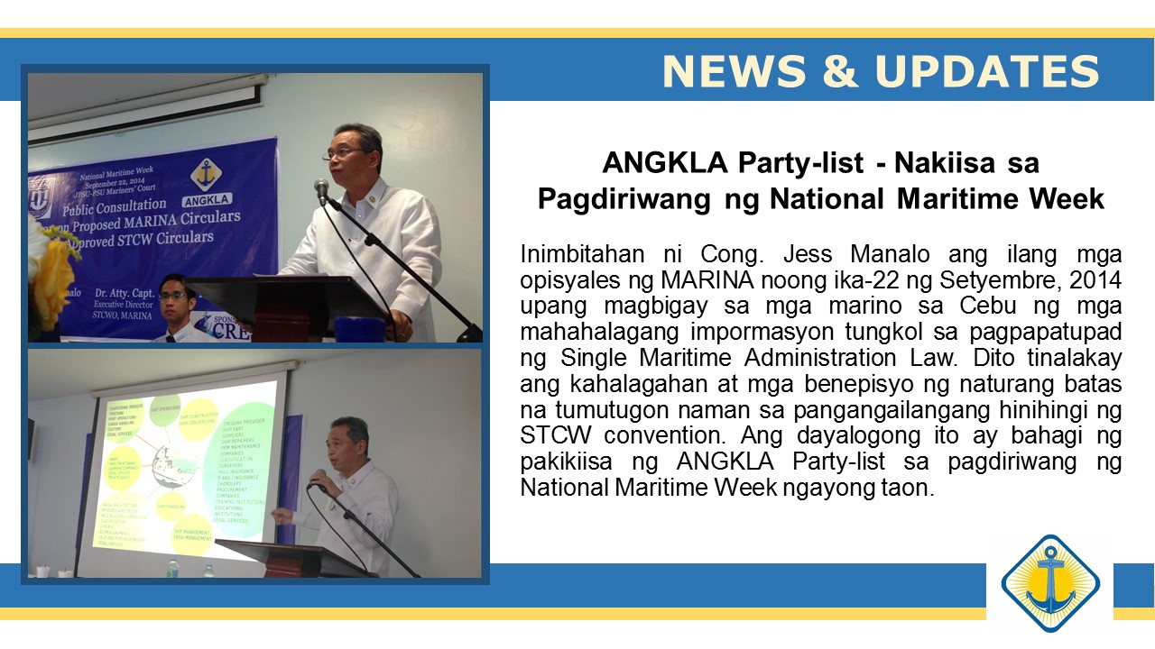 ANGKLA Party-list, nakiisa sa pagdiriwang ng National Maritime Week