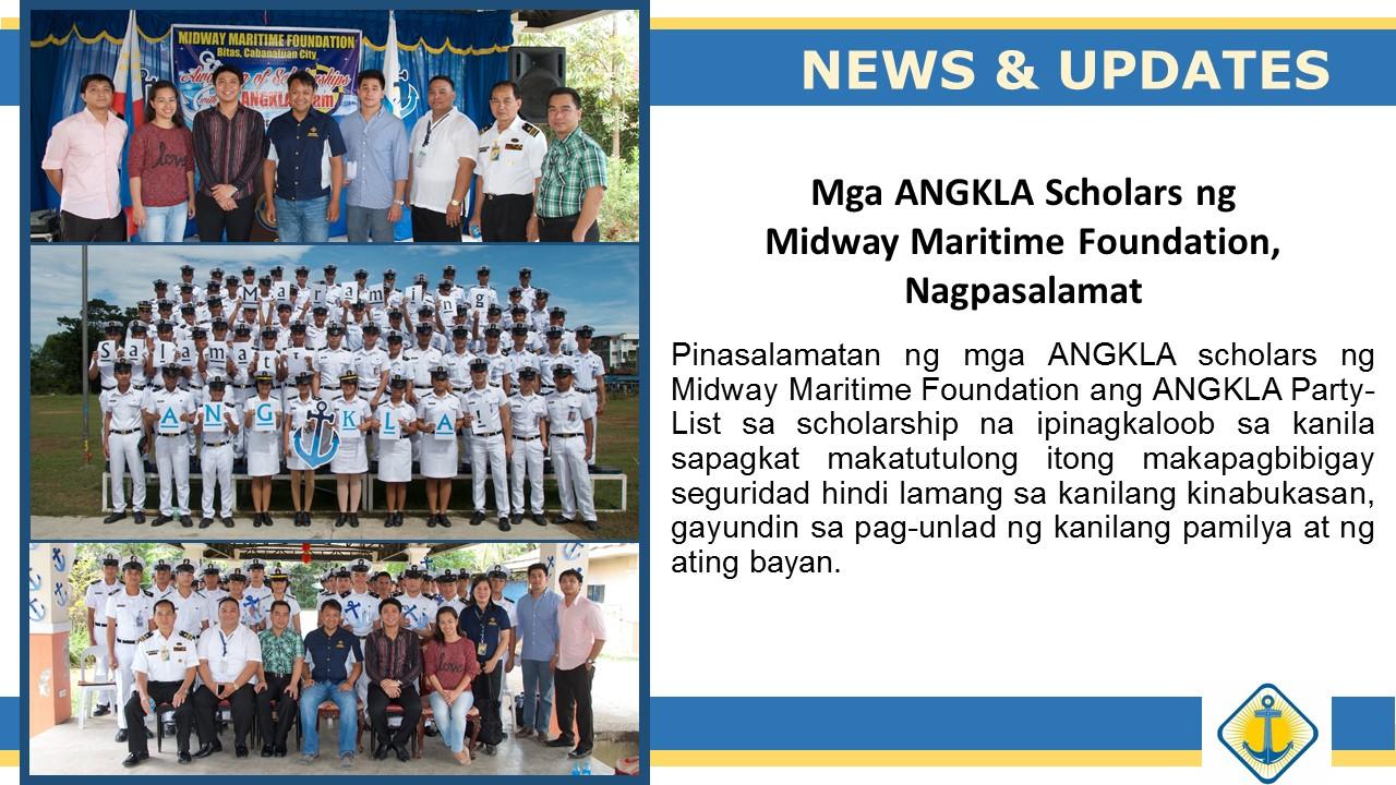 Mga Iskolar ng ANGKLA, Nagpasalamat
